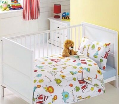 Circus Bedding Girls Boys Cot Bed Bedding Toddler Quilt Cover Pillow Case