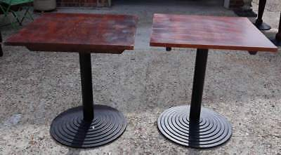 Square Pub Or Bistro Table With Metal Support And Metal Base