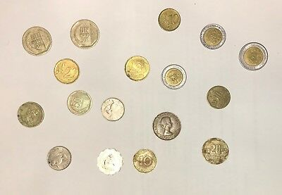 Lot of  Assorted Foreign Worldwide Coins COLLECTIBLE CURRENCY OLD Scrap silver