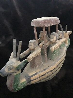 Large ancient Egyptian Wooden Boat (old Kingdom)
