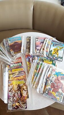 Huge Lot of 48 Old Marvel and DC Comic Book Good Titles Very Good condition