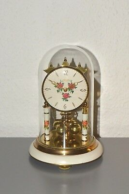 HALLER Nintage glass dome mantle clock. Made in Germany.