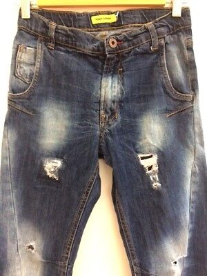 Heach Ripped Faded Blue jeans age 10-11years
