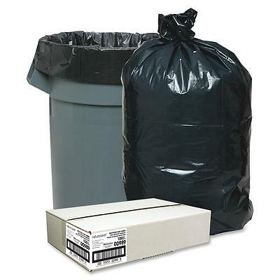 """Nature Saver Trash Can Liners Rcycld 31-33 Gal 1.25mil 33""""x49"""" 100/BX BK 00989"""