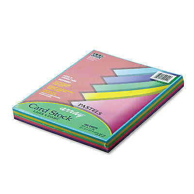 Pacon Array Card Stock 65 lb. Letter Assorted Pastel Colors 100 Sheets/Pack