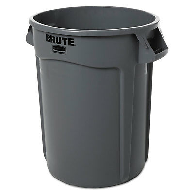 Rubbermaid Commercial Round Brute Container Plastic 32 gal Gray 263200GY