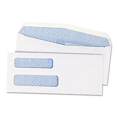 Quality Park Double Window Security Tinted Check Envelope #8 5/8 White 1000/Box