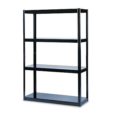 Safco Boltless Steel Shelving Five-Shelf 48w x 18d x 72h Black 5246BL