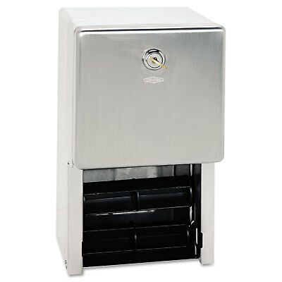 Bobrick Stainless Steel Two-Roll Tissue Dispenser 6 1/4w x 6d x 11h Stainless