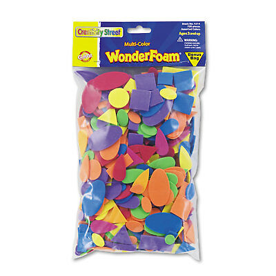 Chenille Kraft Wonderfoam Shapes Assorted Shapes/Colors 720 Pieces/Pack 4314
