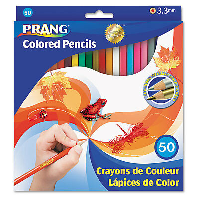 Prang Colored Woodcase Pencils 3.3 mm 50 Assorted Colors/Set 22480