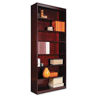 Alera Square Corner Wood Veneer Bookcase, Seven-Shelf, 35-5/8 x 11-3/4 x 84,