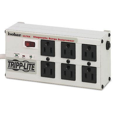 Tripp Lite ISOBAR6ULTRA Isobar Surge Suppressor Metal 6 Outlets 6 ft Cord 3330