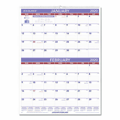 At-A-Glance Two-Month Wall Calendar 22 x 29 2019 PM928