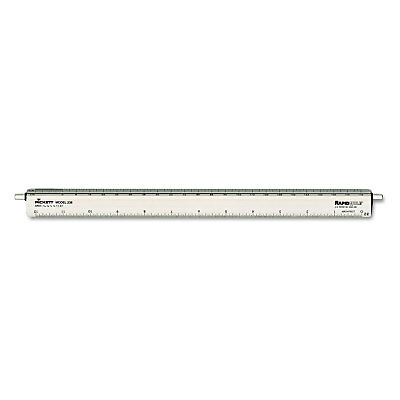 "Chartpak Adjustable Triangular Scale Aluminum Architects Ruler 12"" Silver 238"