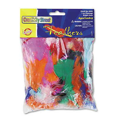 Chenille Kraft Bright Hues Feather Assortment Bright Colors 1 oz Pack 4502