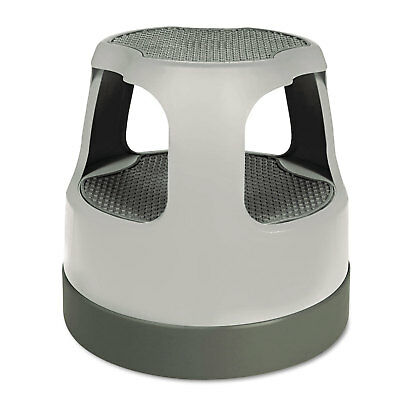 "Cramer Scooter Stool Round 15"" Step & Lock Wheels to 300lb Gray 50011PK82"