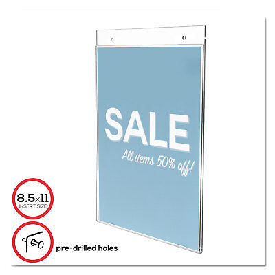 Deflecto Classic Image Single-Sided Wall Sign Holder Plastic 8 1/2 x 11 Insert