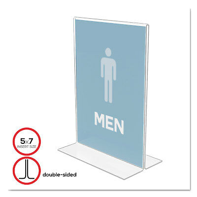 Deflecto Classic Image Stand-Up Double-Sided Sign Holder Plastic 5 x 7 Insert