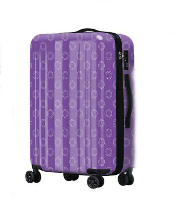D725 Wave Point Art Universal Wheel ABS+PC Travel Suitcase Luggage 20 Inches W