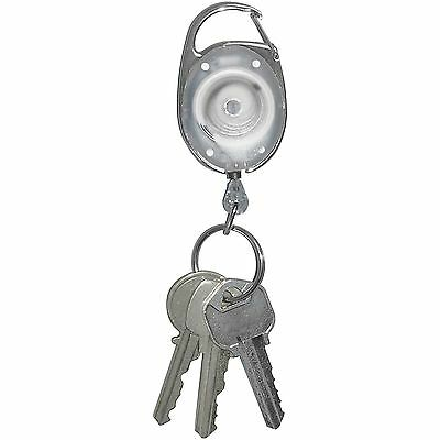 "Tatco Reel Key Chain 30"" Retractable Cord 6/PK Chrome 58200"