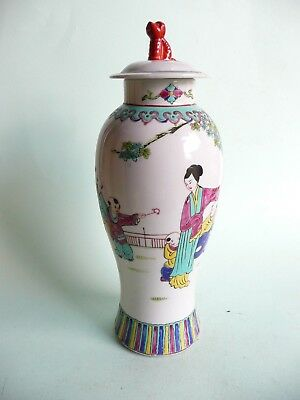 Chinese Republican Period Porcelain Lidded Vase.......................ref.1361