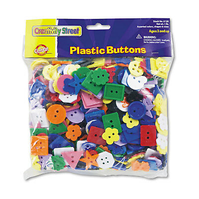 Chenille Kraft Plastic Button Assortment 1 lbs. Assorted Colors/Sizes 6120