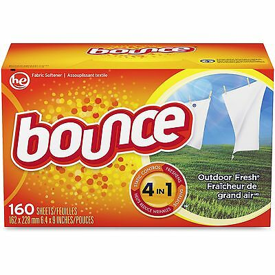 Procter & Gamble Bounce Dryer Sheets 160/BX Outdoor Fresh 80168
