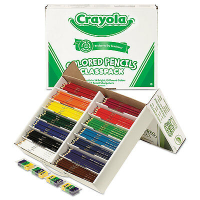 Crayola Colored Woodcase Pencil Classpack 3.3 mm 14 Assorted Color Sets/Box