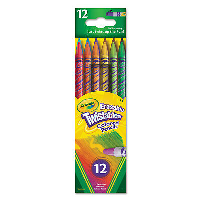 Crayola Twistables Erasable Colored Pencils 12 Assorted Colors/Pack 687508