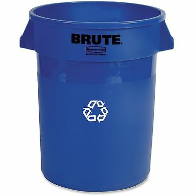"""Rubbermaid Recycling Container Heavy-duty 32 Gal. 22""""x22""""x27-1/4"""" Blue 263273"""
