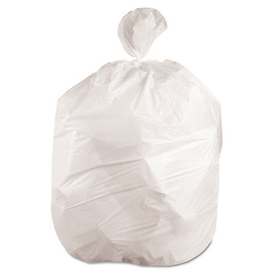 Boardwalk Waste Can Liners 60gal 38x 58 .6mil White 25 Bags/Roll 4 Rolls/Carton