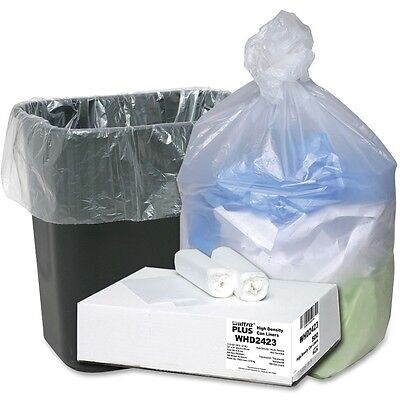 """Webster Can Liners 7-10 Gallon 24""""x24"""" 500/CT Translucent WHD2423"""