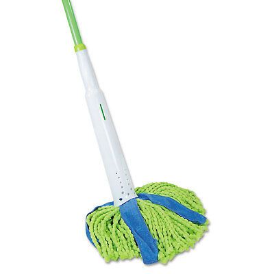 "Lysol Cone Mop Supreme 8"" Wide 31 3/4"" Steel Handle Green/Blue Each 59094M"