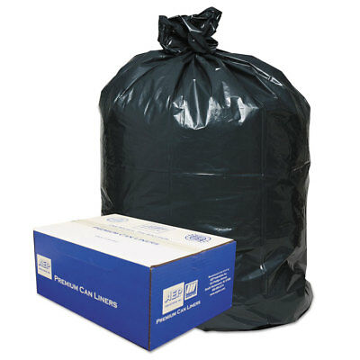 Classic 2-Ply Low-Density Can Liners 55-60gal .9mil 38 x 58 Black 100/Carton