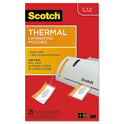 Scotch™ Luggage Tag Size Thermal Laminating Pouches 5 mil 4 1/5 x 2 1/2 25/Pack