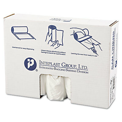 Inteplast Group High-Density Can Liner 40 x 48 45gal 12mic Clear 25/Roll 10