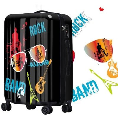 D609 Lock Universal Wheel Black Hip-Hop Travel Suitcase Luggage 28 Inches W