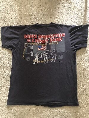 Vintage Bruce Springsteen E Street Band 84/85 World Tour T-Shirt XL Screen Stars