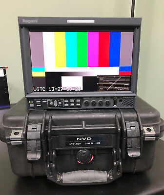 """Ikegami HLM-904WR 9"""" HD field monitor with Pelican 1400 case"""