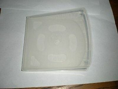 """NEW 50 Slim Quad 4 CD / DVD / Blu Ray Poly """"Unbreakable"""" Jewel Cases - Clear"""
