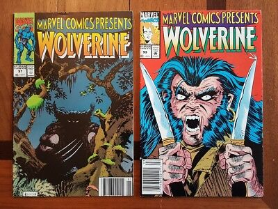 Marvel Comics Presents # 91,93 lot of 2 comic Wolverine Cable Ghost Rider 1991