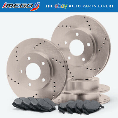 |Front + Rear| Rotors w/Metallic Pad Drilled Brakes (AWD 300 Challenger Charger)