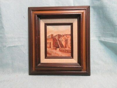 "Original painting titled ""Acoma Pueblo"" by Jode Whitney, acrylic on board"