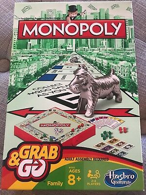 Monopoly Grab and Go Game (Travel Size) Kid Child Fun Gift - Free Shipping