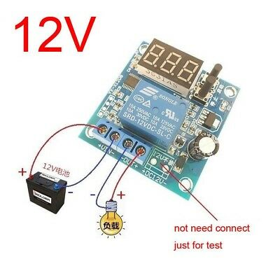 12V Battery Low Voltage cut off On Switch Controller Excessive Protection CAR