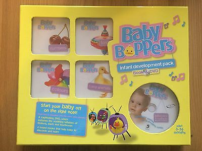 Baby Boppers Babies Infant Development Pack Books & DVD - 4 Books 3-36 Months
