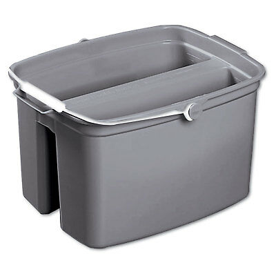 Rubbermaid Commercial Double Utility Pail 17qt Gray 2617GRA