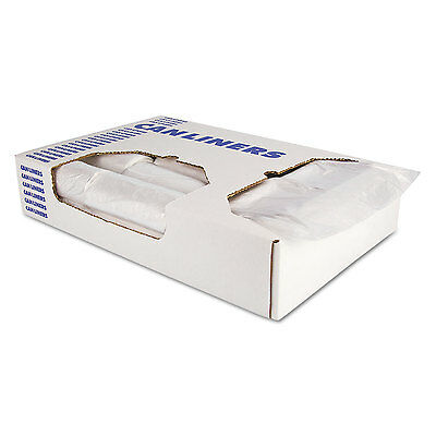 Accufit Low-Density Can Liners 44 gal 0.9 mil 37 x 50 Clear 100/Carton