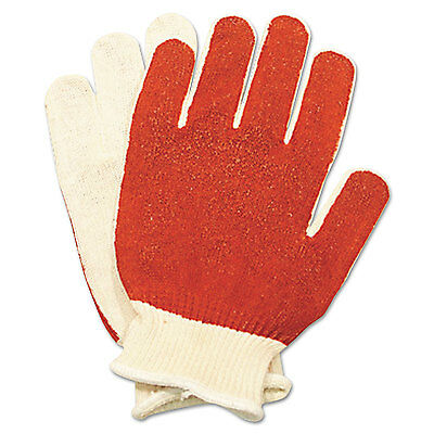 North Safety Smitty Nitrile Palm Coated Gloves White/Red Medium 12 Pairs 811162M